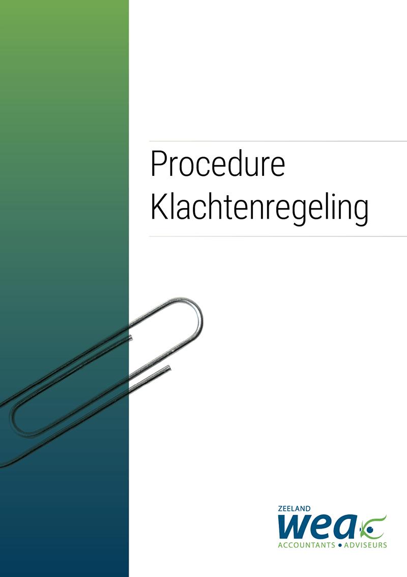 Procedure klachtenregeling